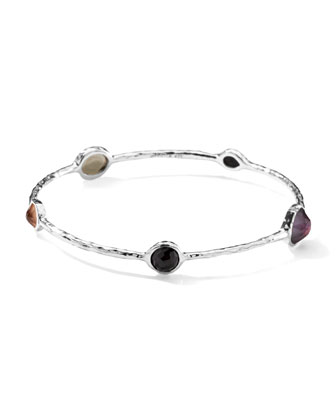 Sterling Silver Wonderland Five-Stone Bangle