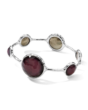 Sterling Silver Wonderland Lollipop Bangle in Boysenberry