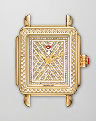 Limited Edition Deco Diamond-Dial Watch Head & Bracelet