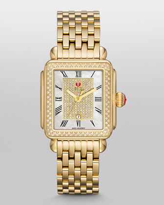 Deco Diamond Watch Head & Bracelet Strap