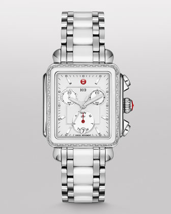 Deco Diamond Ceramic/Steel Watch Head & Bracelet