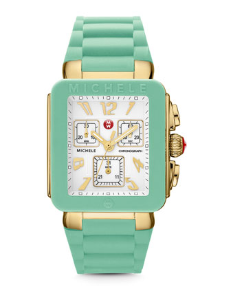 Park Jelly Bean Watch, Seafoam/Yellow Golden