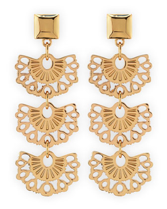 Madura Fan Drop Earrings