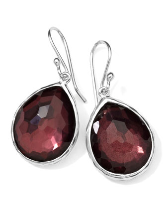 Sterling Silver Wonderland Mini Teardrop Earrings in Boysenberry