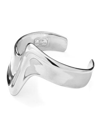 Sterling Silver Scultura Z-Curve Bracelet