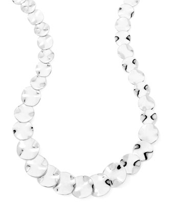 Scultura Small Wavy Disc Collar Necklace
