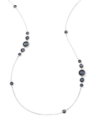 Stella Diamond & Hematite Station Necklace, 37