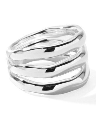Sterling Silver Smooth 3-Layer Ring