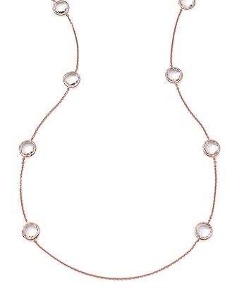 Rose Rock Candy 8-Stone Necklace, Clear Quartz