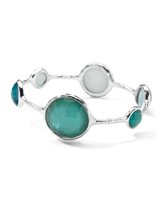Sterling Silver Wonderland Lollipop Bangle in Denim