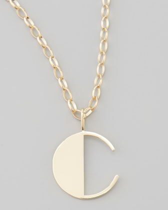 Letter Charm Necklace, C