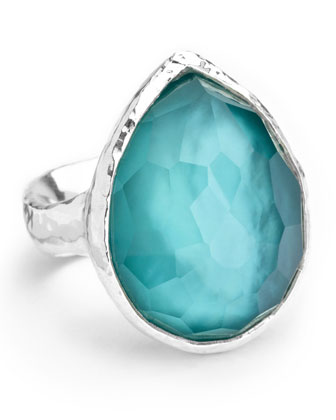 Sterling Silver Wonderland Teardrop Ring in Denim