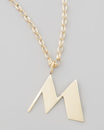 Letter Charm Necklace, M