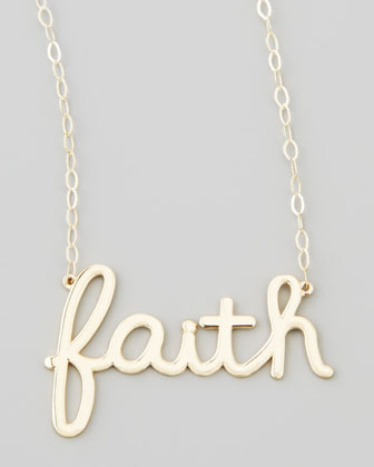 Gold Faith Pendant Necklace