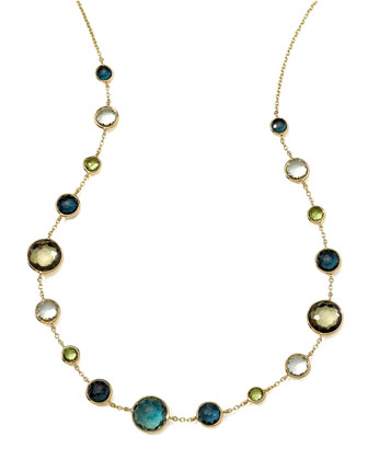 18k Gold Rock Candy Lollitini Necklace in Tartan, 16-18