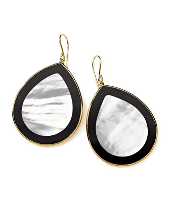18K Gold Polished Rock Candy Jumbo Teardrop Earrings in Jazz