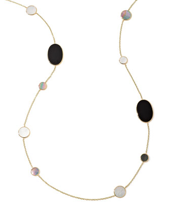 Polished Rock Candy Multi-Stone Station Necklace in Jazz, 37