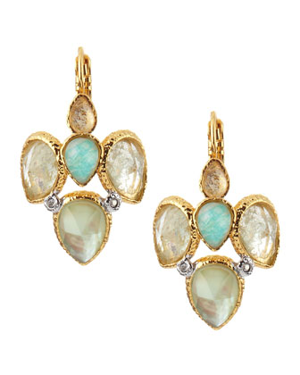 Pear Crystal-Cluster Earrings
