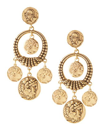 Coin Drop Earrings