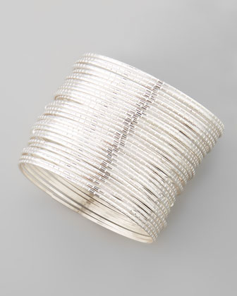 Set of 30 Silver Bangles