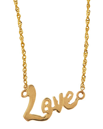 Mini Love 14k Gold Necklace