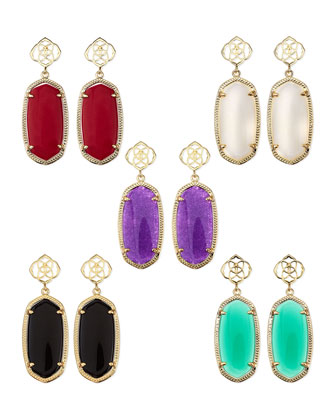 Debbie Glass Drop Earrings