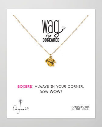 14k Vermeil Boxer Dog Necklace