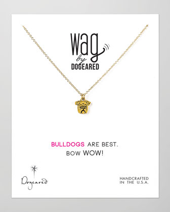 14k Vermeil Bulldog Necklace