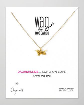 14k Vermeil Dachshund Dog Necklace