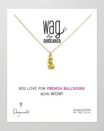 14k Vermeil French Bulldog Necklace