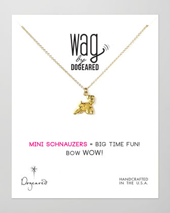 14k Vermeil Mini Schnauzer Dog Necklace