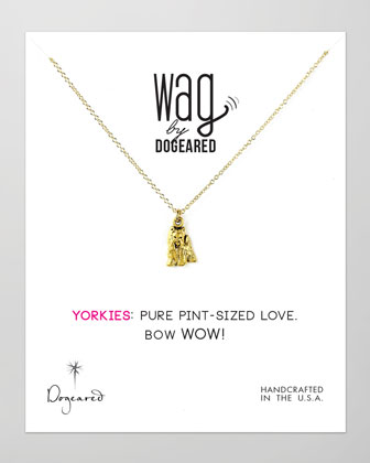14k Vermeil Yorkie Dog Necklace
