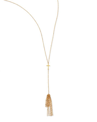 Cross Tassel Necklace, 27