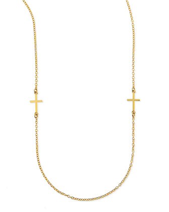 Cross Charm Layering Necklace, 50