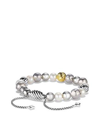 Spiritual Bead Bracelet, Pearl, 8mm