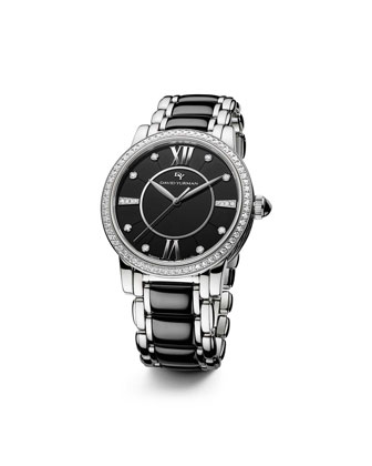 Classic 38mm Quartz, Black Ceramic