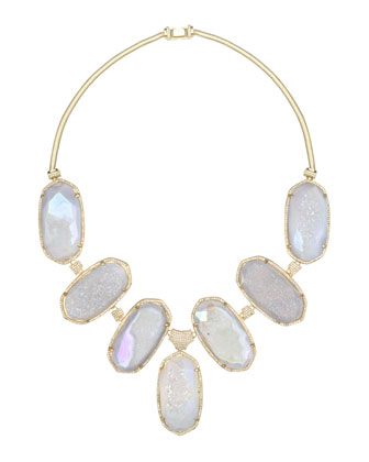 Large Druzy Bib Necklace