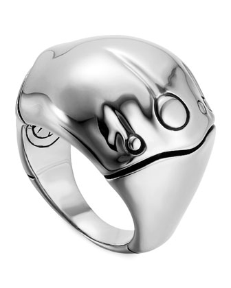 Bamboo Silver Dome Ring