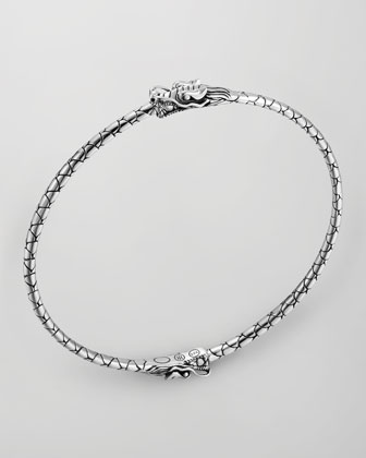 Naga Silver Dragon Bangle