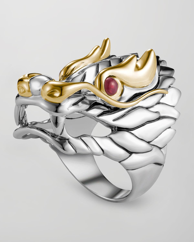 Naga Batu Ruby Eye Dragon Ring   John Hardy   Red (7)