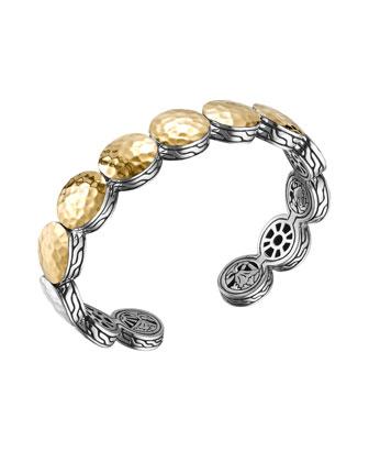 Palu 18k Gold & Silver Flex Cuff