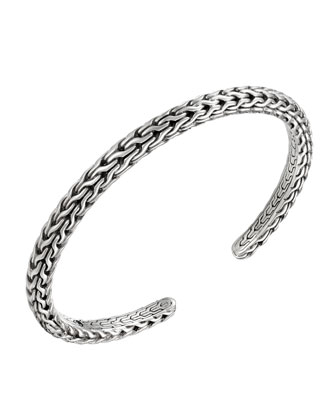 Classic Chain Silver Bangle
