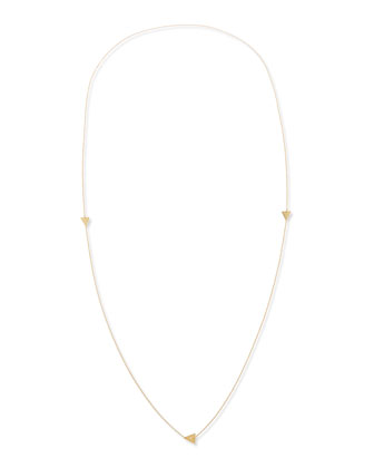 Tyler Triangle Long Necklace with Single Diamond