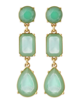 riviera garden earrings, turquoise