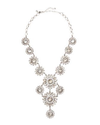estate garden necklace, white