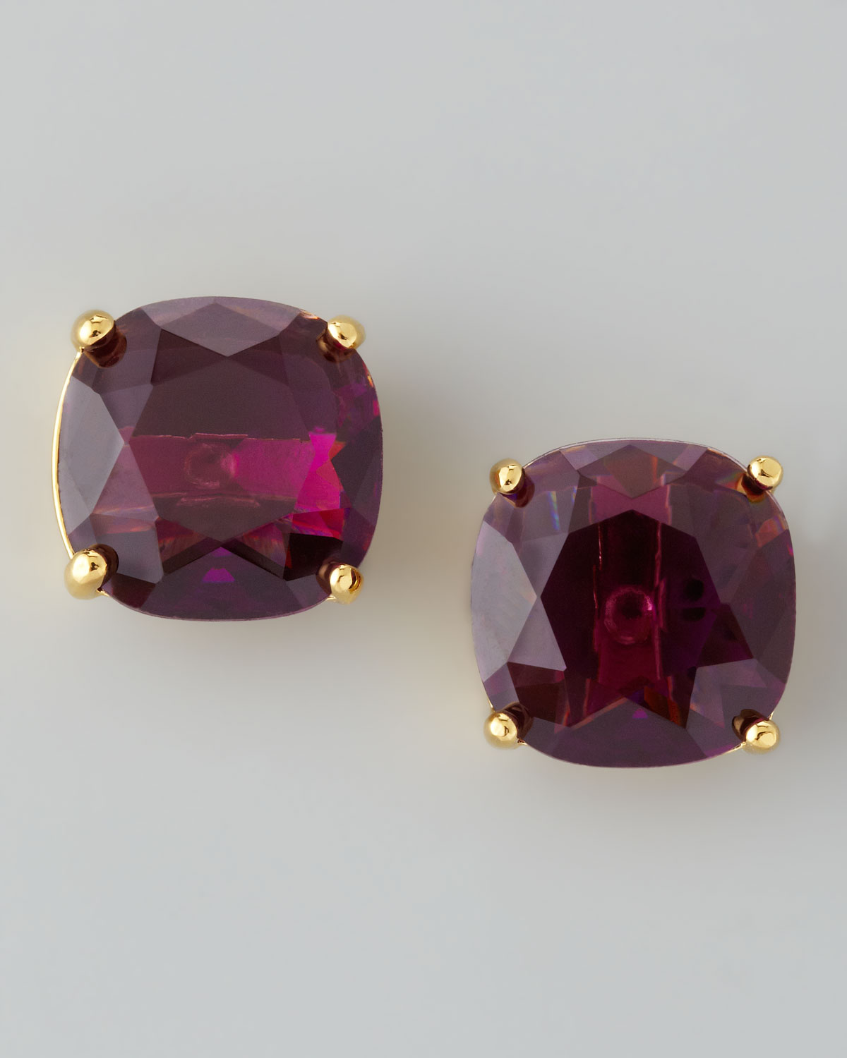 Small Square Stud Earrings, Amethyst   kate spade new york   Amethyst