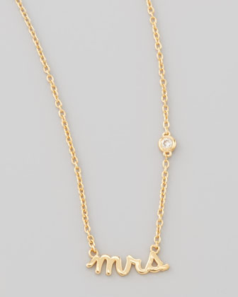 Mrs. Bezel-Diamond Pendant Necklace