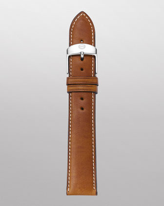 20mm Leather Watch Strap, Light Brown