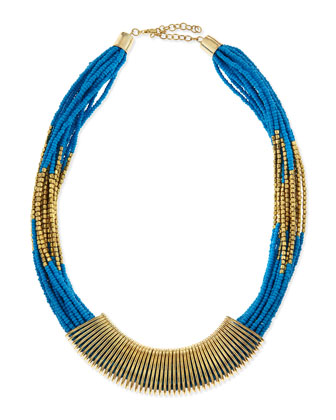 Coil-Wrapped Bead Necklace