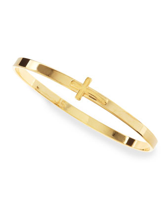 Yellow Golden Cross Bangle